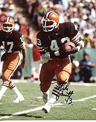 Mike Pruitt signed Cleveland Browns 8X10 photo -Comes with a Certificate of Authenticity * Autographed Football Photos #1