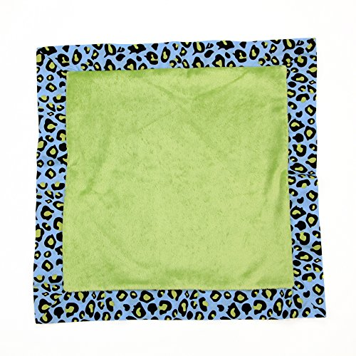 One Grace Place Jazzie Jungle Boy Binky Blanket, Green, Light Blue, Navy Blue and Black