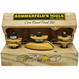 Sommerfeld's 3 Piece Cove Raised Panel Set with our New Patented Chip-Free Roundover Rail & Stile, 1/2-Inch Shank