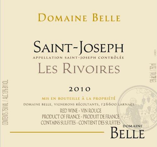 """2010 Domaine Belle """"Les Rivoires,"""" Saint Joseph 750 Ml"""