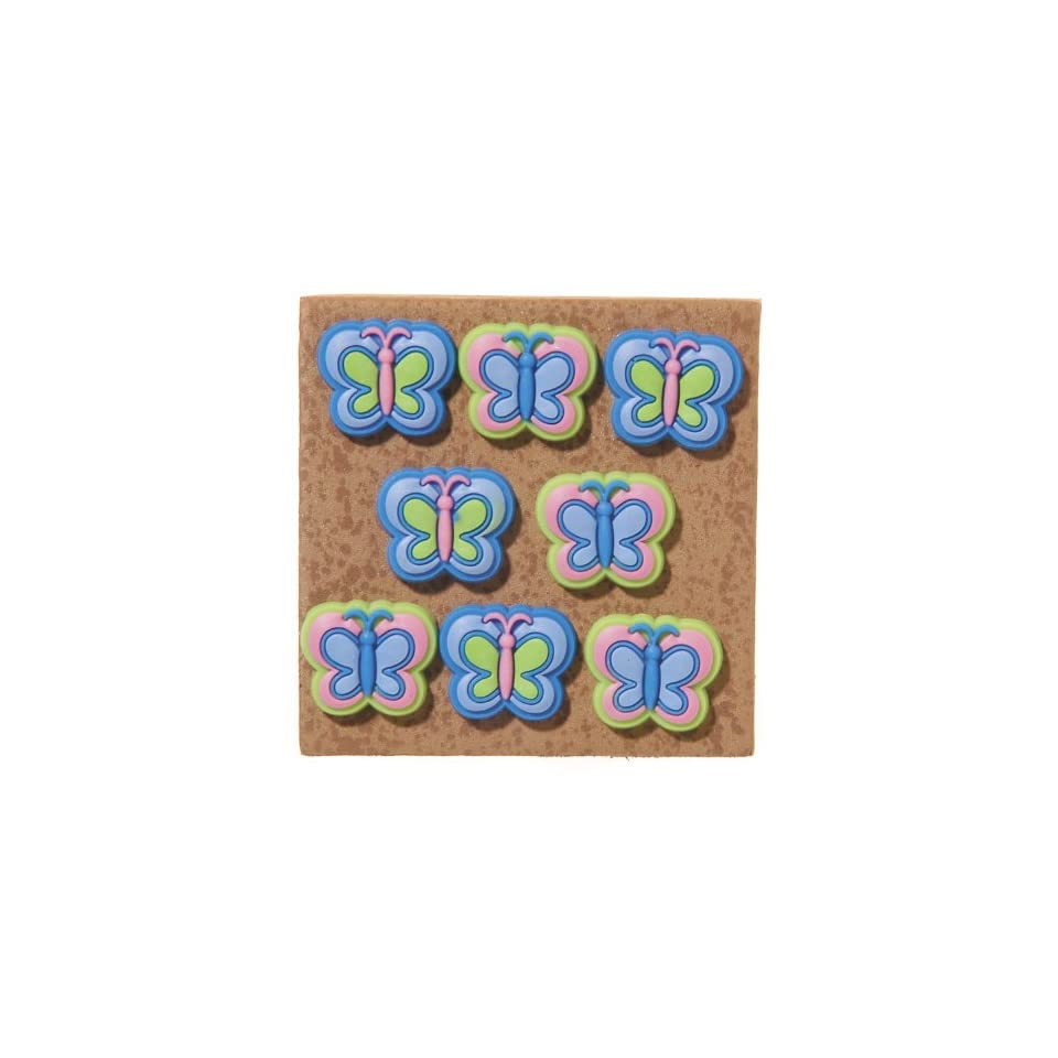 Darice, GROOVY BUTTERFLY PUSH PINS 8PC DWO