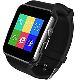ANCwear X6 Smart Watch 16GB Support Micro SIM Card Camera Video Smartwatch Android (Silver)