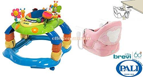 Brevi-giocagiro-Zentrum-Aktivitten-Lauflernhilfe-Schaukel-Kindersitz-Pali-New-Age-Pink