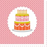 Party Partners Design Retro Sweet Soiree Themed Party Napkins, Pink/Orange, 20 Count