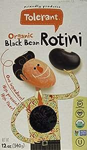 Tolerant Foods Organic Black Bean Pasta-Rotini-12 oz