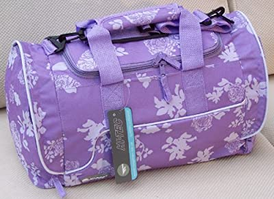 Small Girls or ladies Holdal for Travel luggage or Gym, Sport or School bag Roses design Purple or Lavender by Hi-Tec