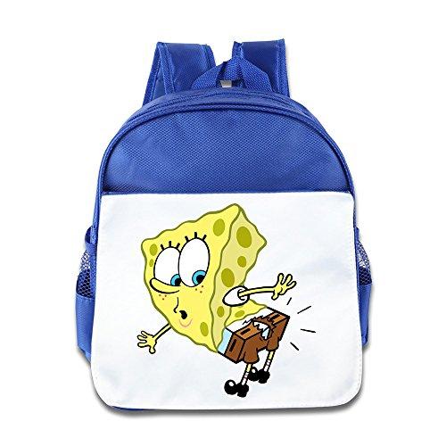 Spongebob Squarepants Kids Backpack Boys Girls School Bag(two Colors:pink Blue) RoyalBlue