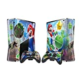 Mario Protector Skin Decal Sticker for Xbox 360 Slim (1 piece for the game console & 2 pieces for 2 controllers)
