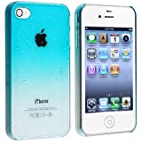 Angelina(TM) Waterdrop Raindrop Hard Snap-on Phone Case Compatible with iPhone 4 4S Sky Blue Color