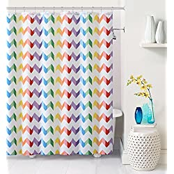 Luxury Home Vivid Chevron Shower Curtain, Multicolor