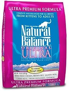 Natural Balance Dry Cat Food, Ultra Premium Formula, 15 Pound Bag