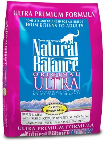 Natural Balance Original Ultra Premium Formula Cat Food, 15-Pound Bag