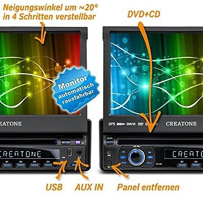 1DIN Autoradio CREATONE CTN-8422D26 mit GPS Navigation, Bluetooth, DVD-Player, Touchscreen und USB/SD-Funktion von CREATONE bei Reifen Onlineshop