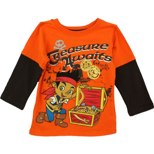 "Disney Jake the Pirate ""Treasure Awaits"" Orange Toddler Layered T-shirt"