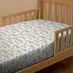 Carousel Designs Love Birds Toddler Bed Sheet Fitted