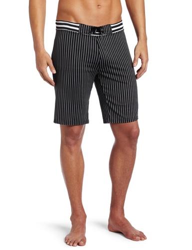 Vuthy Men's Horizontal Stripes Board-Shorts