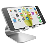 Spinido® iPhone5/5c/5s/6/Plus/Galaxy/Samsung  対応 アルミニウム合金 スマートフォンスタンド  (iPhone, silver)