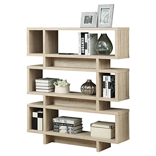 """NEW Design Reclaimed Look Modern 55"""" Bookcase - FREE SHIPPING (Natural)"""