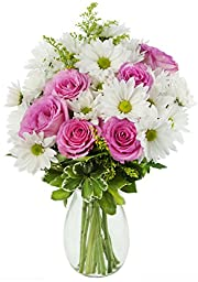 Mother\'s Day Special Icing on the Cake Daisies and Roses - With Vase