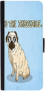 Snoogg Do The Impossible Cute Graphic Snap On Hard Back Leather + Pc Flip Cov...