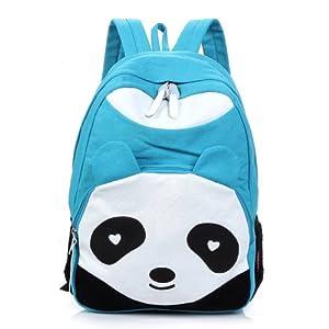 Generic Sac à dos Motif panda bleu ciel