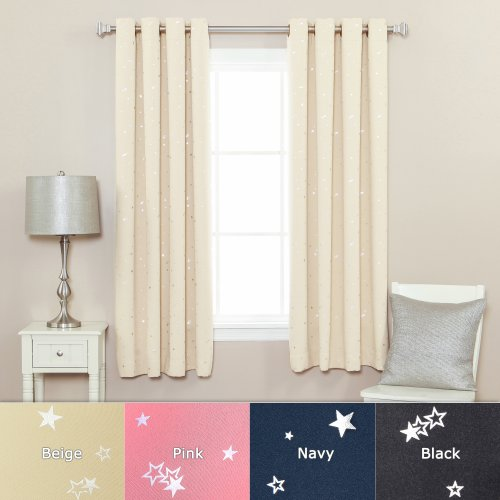 Best home fashion grommet star print thermal insulated for Thermal star windows