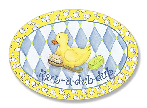The Kids Room by Stupell Rub-a-dub-dub Rubber Ducky Oval Wall Plaque