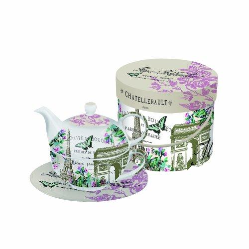 Paperproducts Design Tea Set Gift Box, La Tour De Paris