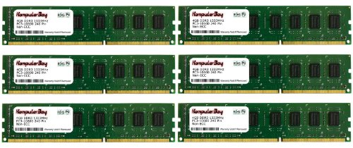 Komputerbay 24GB (6 X 4GB) DDR3 DIMM (240 pin) 1333Mhz PC3 10600 / PC3 10666 (9-9-9-25) 24 GB KIT