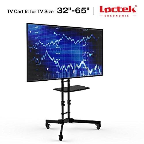 "Loctek P3B Universal Mobile TV Cart TV Stand for LED, LCD, Plasma Displays 32-65"", Black"