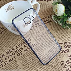 Soft Transparent back cover Samsung Galaxy E5 Blue