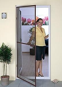 Insektenschutztür Fliegengitter Tür Alurahmen 100 x 215 STANDARD NEU ALU
