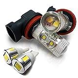 フォグランプ LED H8OSRAM製 ポジションランプ T10 LED ホワイト サムスン製 高輝度 スピアーノ HF21S 左右セット セット割 お買い得 セット