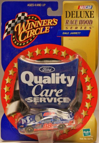 2000 - Hasbro - NASCAR - Winner's circle - Deluxe Race Hood Series - Dale Jarrett #88 - Ford Taurus - Ford Quality Care - 1:64 Scale - die Cast - Limited Edition - Collectible