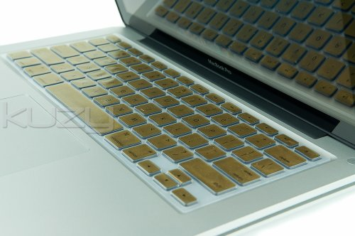 #1  Kuzy - METALLIC GOLD Keyboard Cover Silicone Skin for MacBook Pro 13