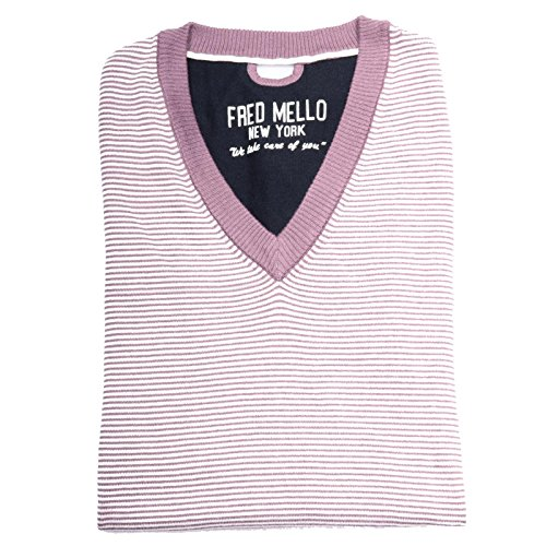 68817 maglione smanicato FRED MELLO COTONE maglia uomo sweater sleeveless jumper [M]