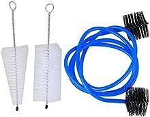 BQLZR Boquilla Cepillo Kit para el cuidado de limpieza de mantenimiento de la trompeta serpiente Válvula de cepillo cepillo de carcasa