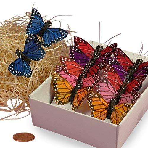 Assorted Monarch Butterflies, 1-1/2 (Color: Assorted, Tamaño: 1)