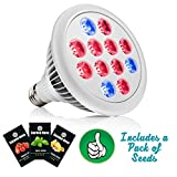 Garden Nova LED Grow Light Bulb for Indoor Plants - Best Spectrum for Seedling Vegetables Herbs- Hydroponics Growing- Includes MADE IN THE USA Seeds Packet Bonus
