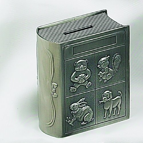 Elegance Silver Pewter Finish Storybook Money Bank
