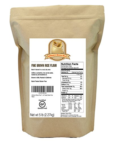 Brown Rice Flour (5 Pounds) by Anthony's, Certified Gluten-Free (5lbs) (Flour Brown Rice compare prices)