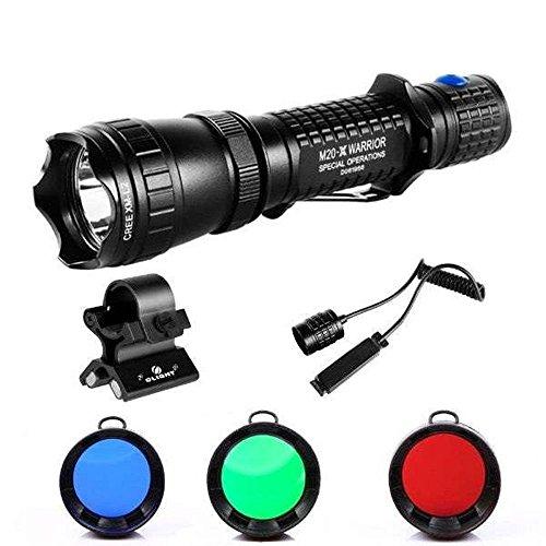 olight-m20-warrior-sx-l2-javelot-caccia-set-con-3-filtri-colore-verde-rosso-blu-interruttore-cavo-e-