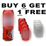 7 Pack Hide a Beer Can Soda Covers Wrap Sleeves Koozie Disguise Tailgate 08
