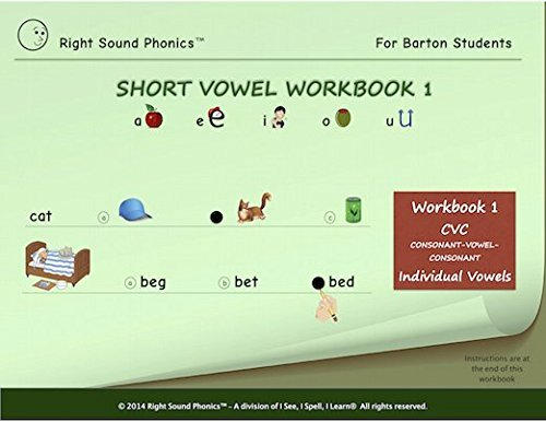 Short Vowel Workbook 1 - Right Sound PhonicsTM