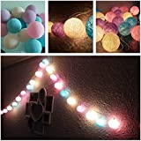 20 Balls Home Decoration Light Thai Cotton Balls String Series (LADI) Festival Lamp Creative Gift Diwali Christmas...