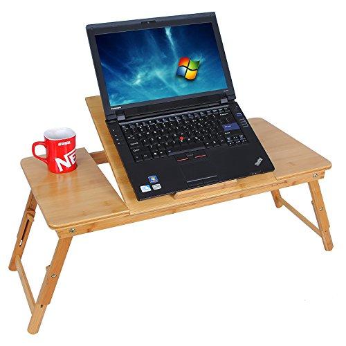 Tavolino pc tavolo notebook pieghevole portatile di legno - Tavolino porta pc portatile ...