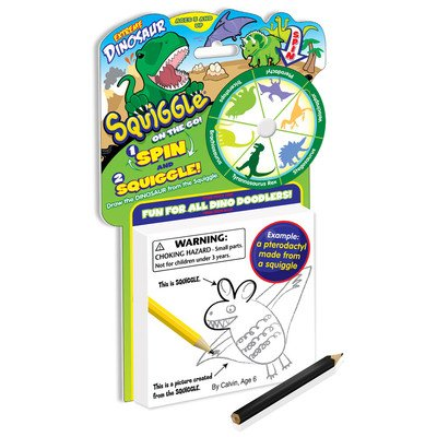 Toysmith On-The-Go Squiggle Dinosaur Playset