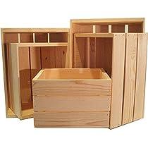 Set of 5 Heavy Duty Pine Crates