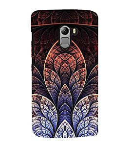 Fuson Premium Back Case Cover Floral Pattern With yellow Background Degined For Lenovo K4 Note