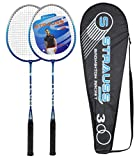 Strauss V Tech 1012 Badminton Racquet  2 Pieces with Cover (Black/Blue)
